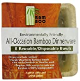Bamboo Studio 7 Square Inch Bowl, 16-Ounce, 8-Pack, Natural Color