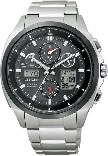 CITIZEN (シチズン) 腕時計 ATTESA アテッサ Eco-Drive エコ・ドライブ 電波時計 ジェットセッターU680 ATV53-3023 メンズ