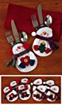8Pc. Snowman Holiday Silverware Holders