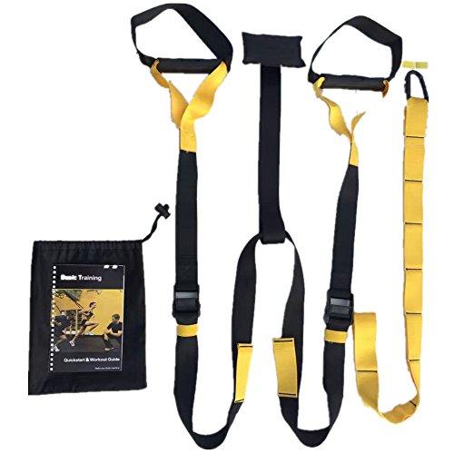 X-BEAST Suspension Trainer Kit di PRO, Cinghie per Suspensione, Qualità di Grado Militare, Nastri per Esercizio Peso Corporeo , Strumento Perfetto per Gli Allenatori in Tutti I Settori dello Sport, Unisex, Adulto