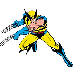 Roommates Rmk2354Gm  Marvel Classic Wolverine Peel And Stick Giant Wall Decals