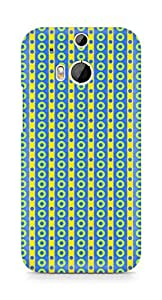 Amez designer printed 3d premium high quality back case cover for HTC One M8 (Geometric Bright Pattern10)