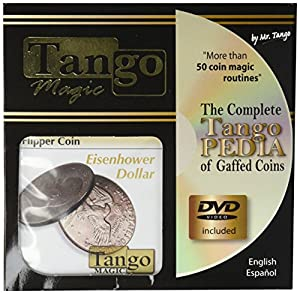 MMS Flipper Coin Eisenhower Dollar (with DVD)(D0038) by Tango - Trick