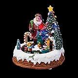 Village de Noël lumineux Train du Père Noël