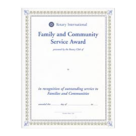 Family and Community Service Award (Set of 10)