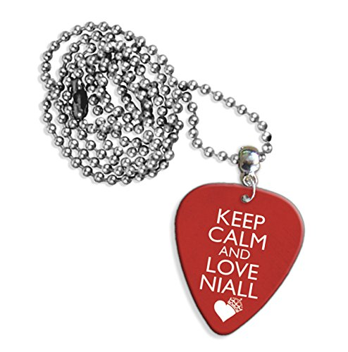 Keep Calm And Love Niall Horan One Direction Logo Guitar Pick Necklace (GD) (One Direction Guitar Accessories compare prices)