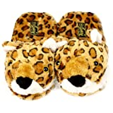 Leopard Animal Plush Cushion Indoor Outdoor NonSlip Grip Sole Slippers L 9-10