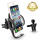 Phone Holder - Teletrogy Universal Adjustable Air Vent Car Phone Holder Cradle Mount Kit with 360 Degree Rotation for iPhone Samsung Galaxy S7 S6 S5 Note5, LG Nexus, More Smartphones and GPS Devices