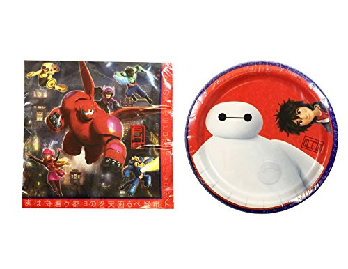 Big Hero Six Party Pack - Dessert Plate and Napkins - 1