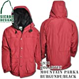 Polartec Mountain Parka 7931: Burgundy / Black