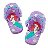 DISNEY LITTLE MERMAID Ariel Flip Flops for Girls SIZE 9/10