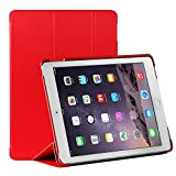 Apple iPad Air 2 Case - ProCase SlimSnug Cover Case Exclusive for iPad Air 2, Ultra Slim and light, Hard Shell Cover, with Stand, anti-slip rubber coating (iPad 6th Gen, iPad Air 2nd Gen, Air2) (Red)