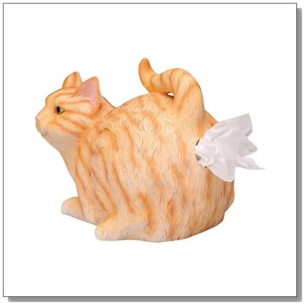 Tabby Cat Tissue Holder - What On Earth Exclusive