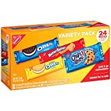 Chips Ahoy Golden Oreo Oreo and Nutter Butter Twenty Four Pack Variety Pack Cookies