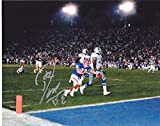 DON BEEBE BUFFALO BILLS LEON LETT SUPER BOWL PLAY ACTION SIGNED 8x10 - Autographed NFL Photos