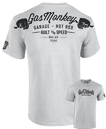 Gas Monkey Garage T-Shirt Hands, Color:Grey Melange;Größe:L