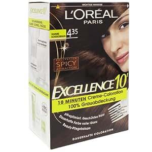 2x excellence 10 von loreal warmes schokobraun 10 for 10 minuten haarfarbe