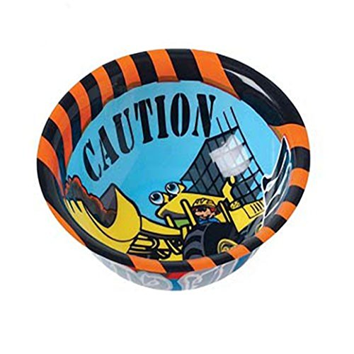 Dozen Construction Builder Design Plastic Party Bowls