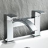 Ecco Bathroom Taps - Chrome Bath Filler Mixer Tap