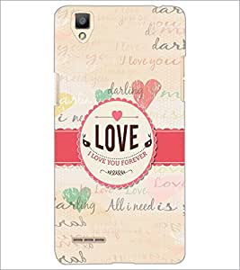 PrintDhaba Quote D-5589 Back Case Cover for OPPO F1 (Multi-Coloured)