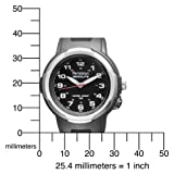 Armitron Women's 25/6369 Easy to Read Instalite Black Sport Watch