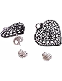 Silvesto India 2 Pear Shape Stud Earring With Jewelry Accessories PG-19866