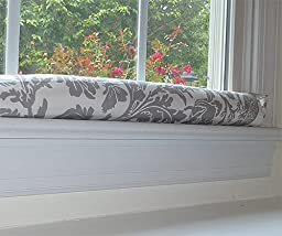Draft Stopper - Grey & White - Unfilled Window or Door Draft Stopper