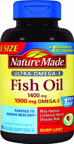 Nature Made Ultra Omega-3 Fish Oil Value Size Softgel, 1400 mg, 90 Count (Nature Made Ultra Fish Oil compare prices)