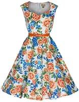 Lindy Bop 'Yulia' 1950 Vintage Chic Miami Beach Floral Robe Trapèze