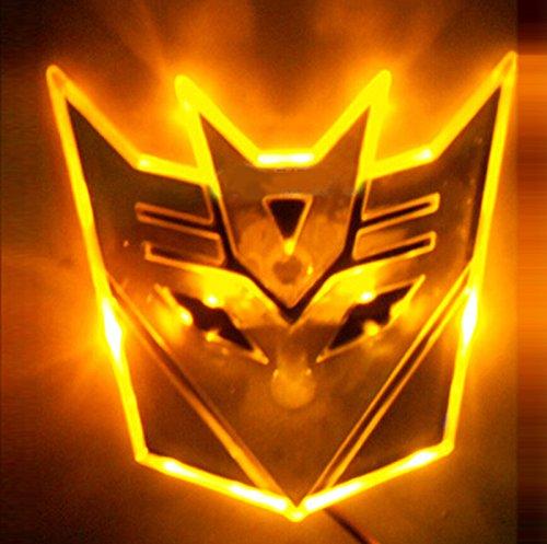 New Led Transformers Autobot 3D Logo Emblem Badge Decal Car Sticker 3 Colors