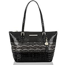 Medium Asher Tote<br>Black Mandana