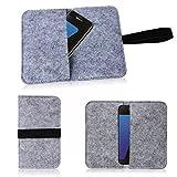 Filz Hülle für Smartphone Cover Tasche Case Flip