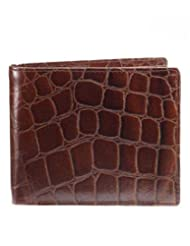 Walletsnbags Croco Print Mens Wallet W 21- BR