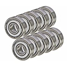 10 Bearing 6203Z 17x40x12 Single Shielded