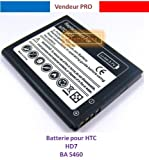 Batterie lithium compatible pour HTC HD7 - 3,7V 1500 mAh