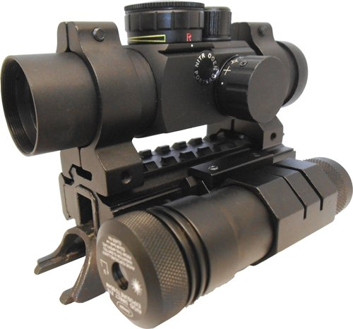 Tactical 4 Reticle Pattern illuminated Rifle Scope + Mount And Backup Aiming Sight Fits Yugo Chinese Russian M59 59/66 SKS Rifles (Yugo Sks Parts compare prices)