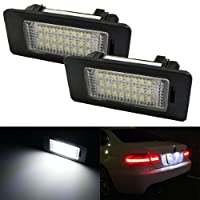 Ijdmtoy 24-smd Error Free Led License Plate Light Lamps For Bmw 1 3 5 Series X3 X5 X6 by iJDMTOY Auto Accessories