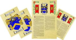 Ericksen Coat of Arms, Family Crest & History Combo