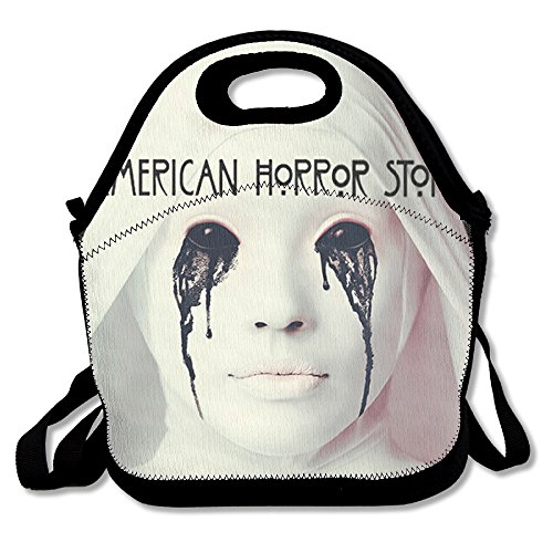 [Black Fashion American Horror Story Hotel Lightweight Unisex Lunch Bags For Woman Man Kid] (Lady Gaga Born This Way Wig)
