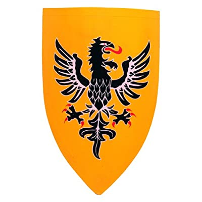 Armor Venue Wooden Crusader Eagle Shield - Yellow - One Size Fit Most Armour