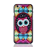 H&F iPhone 6 Case Hard Plastic Cell Phone Case for 4.7 Inches Iphone 6 with Cute Cartoon Owl