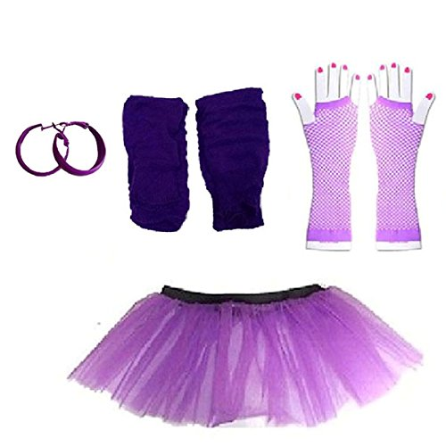 Plus Size 16-24 Neon Tutu Skirt with Accessories