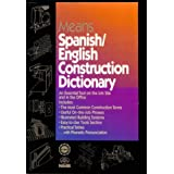 Means Spanish English Construction Dictionaryby R S Means Company