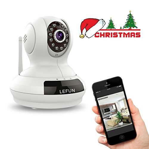 LeFun™ Wireless WiFi IP Surveillance Camera Pan Tilt 720P HD Night Vision Baby Video Monitor Nanny Cam with Two-Way Audio Remote Security System