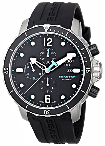 Tissot-Mens-T0664271705700-Seastar-1000-Black-Chronograph-Dial-Watch