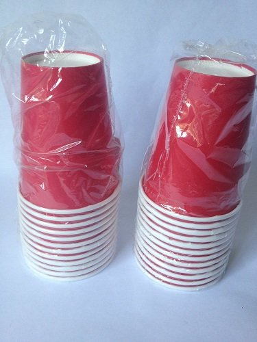Red Paper Cups - 9 oz - Pack of (24) - 1
