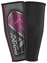 adidas Performance Ghost Pro Shin Guard, Black/Shock Pink, X-Small