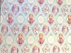 Disney's Frozen Christmas Holiday Extra Wide Gift Wrapping Paper Measures 70 Sq Ft Made in the USA!