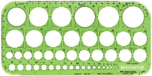 Faber-Castell 172066 - Plantilla con círculos