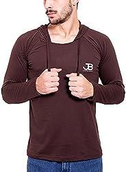 Jangoboy Men's Regular Fit Sweatshirt (F4U-6_L, Brown, L)